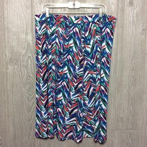 Jones Studio Printed Skirt PLUS SIZE 2X